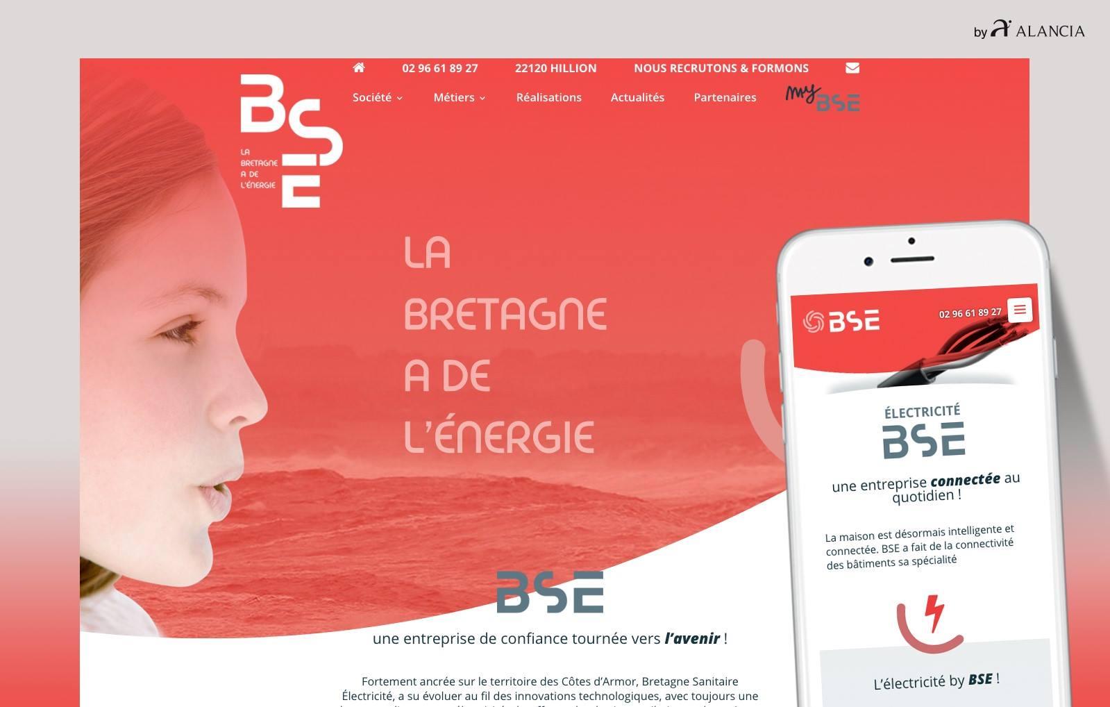 page web du site Bretagne Sanitaire Electricité